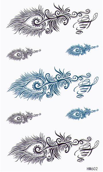 薇嘉雅  變形蟲 紋身貼紙 HM602