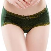 思薇爾-撩波系列M-XL蕾絲中低腰平口內褲(棲綠色)