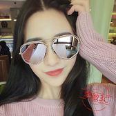 偏光太陽鏡女鏤空個性墨鏡圓臉新款司機太陽眼鏡女【限量85折】