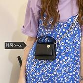 韓國mini粗鏈條黑色手提小方包女2021夏季新款胸包口紅零錢挎包 童趣屋