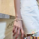 簡約小眾設計潮小蜜蜂雛菊巴洛克珍珠手鏈女手鐲閨蜜【奇妙商鋪】