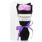 O'Pretty 歐沛媞 浪漫玫瑰香皂花束-淺紫(17cm)[附外盒]-婚禮宴客適用