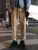 秋季男士長褲日系休閒褲青少年ulzzang寬鬆直筒工裝BF風闊腿褲潮 依凡卡時尚