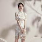 旗袍2021新款年輕少女改良版日常洋裝法式性感夏季女復古小個子 喵小姐