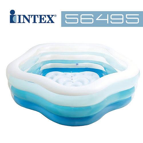 【美國 INTEX】戲水系列-海洋星型充氣泳池/戲水池/游泳池(氣墊池底) 56495