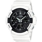 CASIO 卡西歐 G-SHOCK 太陽能雙顯手錶-白 GAS-100B-7A / GAS-100B-7ADR