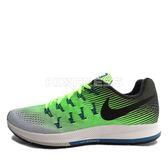 Nike Air Zoom Pegasus 33 [831352-302] 男鞋 慢跑 運動 休閒 綠 黑