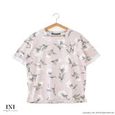 【INI】週慶限定、溫柔配色花樣上衣.粉色