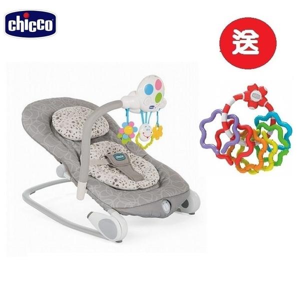Chicco Ballon安撫搖椅探險版-田園藕灰 2999元+送Chicco寶貝學習顏色形狀手搖鈴