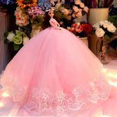 芭芘比娃娃套裝超大禮盒拖尾婚紗女孩公主洋娃娃兒童玩具生日禮物 WY【全館89折低價促銷】