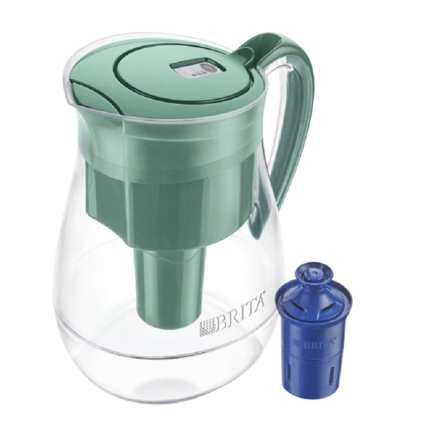 [8美國直購] Brita 含30周長效濾心 Large 10 Cup Water Filter Pitcher with 1 Longlast Filter, Reduces Lead, BPA Free