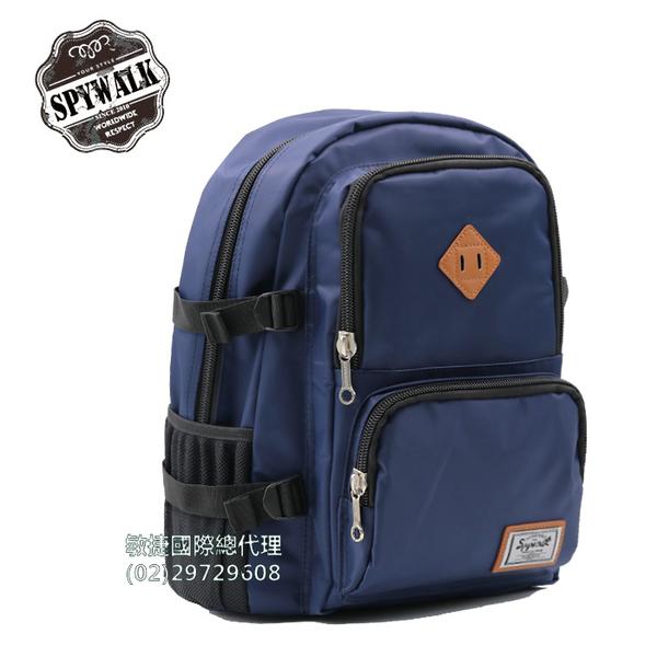 後背包 SPYWALK防水材質多口袋尼龍電腦背包 NO:S6114