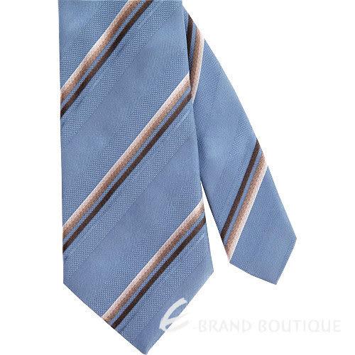 Les Copains 灰藍/咖啡色漸層斜紋領帶 1240433-62