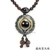 《藏珠家天珠》精品33mm鈣化老礦財咒天眼天珠項鍊