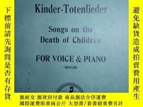 二手書博民逛書店ZCD罕見英文曲譜:KINDER-TOTENLIEDER SON