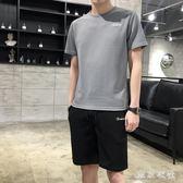 男士套裝夏季新款潮流韓版休閒夏天帥氣一套男短袖t恤兩件套 QQ30229『東京衣社』