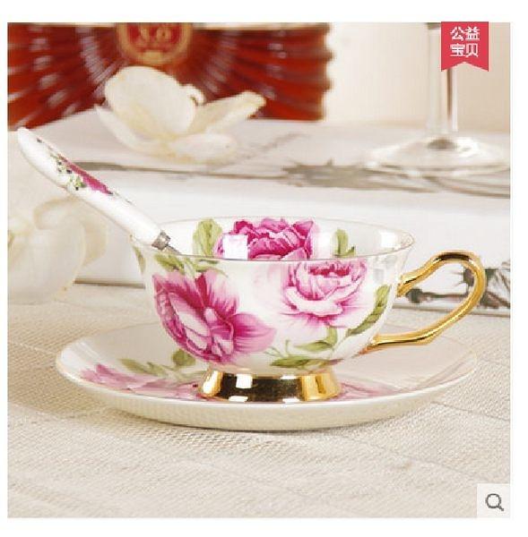英式咖啡杯子(英倫玫瑰)