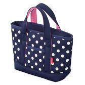 【日本CB JAPAN】水玉點點系列可洗可拆保冷托特手提袋-4L(深海藍) 野餐袋/便當袋/包包/保冷袋