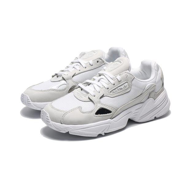 ADIDAS ORIGINALS FALCON 白灰 厚底 老爹鞋 休閒鞋 女(布魯克林) B28128