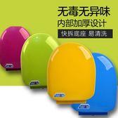 彩色馬桶蓋通用加厚坐便器蓋緩降老式圈座便蓋PP蓋板O U型V型配件 igo童趣潮品