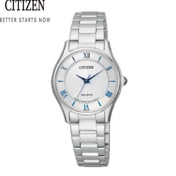 CITIZEN 星辰 光動能時尚腕錶 光動能 太陽能(EM0400-51B)27mm