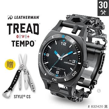 美國Leatherman TREAD TEMPO 工具手鍊錶-(公司貨)#832420 (黑)
