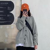 棒球服 灰色衛衣外套2021新款女韓版寬鬆春秋季長袖bf風棒球服百搭ins潮 童趣屋  新品