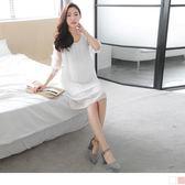 《MA0070-》透膚網紗雕花百摺綁帶洋裝.2色 OB嚴選