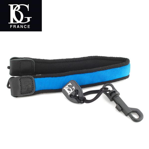 【小叮噹的店】 法國 BG S96SH 藍色  薩克斯風吊帶  (Alto.Tenor.Soprano )  D35
