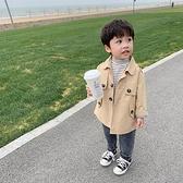 男童外套 童裝男童外套春秋款英倫帥氣寶寶早春風衣兒童秋裝正韓潮-Milano米蘭
