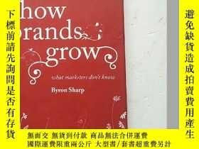 二手書博民逛書店How罕見Brands Grow: What Marketers