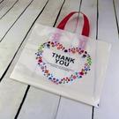 10入 感謝花圈 塑膠手提袋 包裝袋 PE袋 服裝袋 服飾袋【D063】