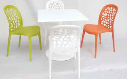 【南洋風休閒傢俱】戶外餐桌椅系列-泡泡椅 70cmFPR餐桌 洞洞餐椅 休閒椅 洽談椅(540-3)