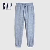 Gap女裝 碳素軟磨系列 簡約鬆緊休閒褲 658952-淺藍色