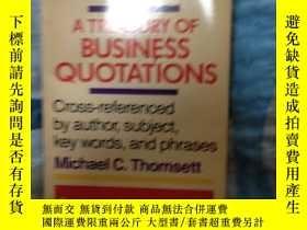 二手書博民逛書店a罕見treasury of business quotatio
