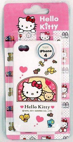 【零國界-小物】HELLO KITTY iPHONE 4 矽膠保護套粉-(窗戶)韓國製