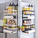 廚房冰箱磁吸置物架側面收納盒磁鐵壁掛式調料架子側保鮮膜袋掛架 米娜小鋪