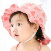 正韓嬰兒帽子春夏0-3-6-12個月寶寶盆帽女寶寶遮陽帽防曬漁夫帽夏 萬聖節