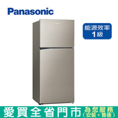 Panasonic國際422L雙門變頻冰箱NR-B420TV-S1含配送到府+標準安裝  【愛買】