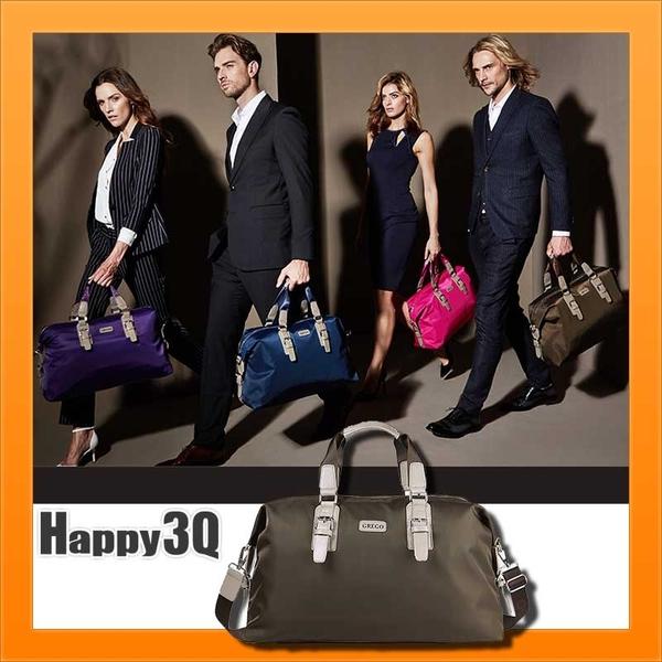 商務出國防潑水手提側背收納行李袋旅行包-棕/黑/藍/粉/紫/迷彩【AAA1529】預購