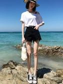 牛仔短褲女2020新款高腰熱褲顯瘦顯高黑色白色夏季薄款寬鬆潮ins 唯伊