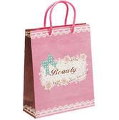 《荷包袋》手提紙袋 大4K(方型) 韓流甜美風 【25入】
