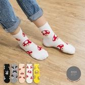 韓國襪子 五隻卡通人物中筒襪【K0683】