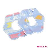 360度六層紗布口水巾 圍兜兜三入組 輕鬆藍雲彩 (嬰兒/幼兒/寶寶/新生兒/baby/兒童)