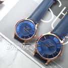 RELAX TIME Classic 經典系列 立體波紋簡約俐落情人對錶 真皮手錶 防水錶 IP黑X藍 RT-88-3M+RT-88-3L