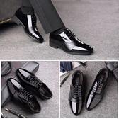 正裝男士皮鞋男尖頭夏季黑色增高男鞋英倫商務青年韓版休閒鞋透氣  9號潮人館