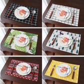 餐桌墊北歐風日式中式棉麻布藝餐巾桌布隔熱西餐墊盤子墊拍照背景