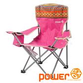 Power Box 兒童民族風扶手椅『桃紅』P17728 摺疊椅.露營椅.戶外椅.兒童椅.靠背椅.導演椅