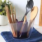 簡約廚房家用筷子筒多功能塑料湯勺架子筷子盒創意筷籠瀝水筷子籠【一線時代】