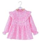 兒童純棉防水圍裙罩衣寶寶反穿衣女孩長袖公主裙吃飯衣嬰兒圍兜  免運快速出貨